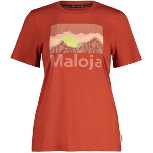 Maloja LeinblattM. Kurzarm T-Shirt Damen rot rot