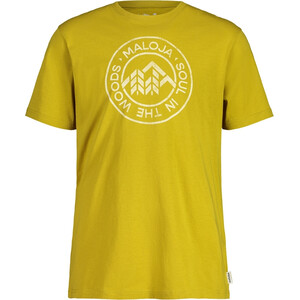 Maloja RotbirneM. Kurzarm T-Shirt Herren gelb gelb