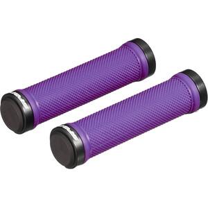 Spank Spoon Lock-On Cykelhåndtag, sort/violet sort/violet