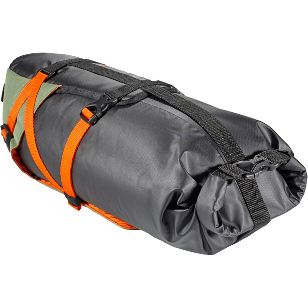 Birzman Packman Travel WP Saddle Bag, oranssi/oliivi