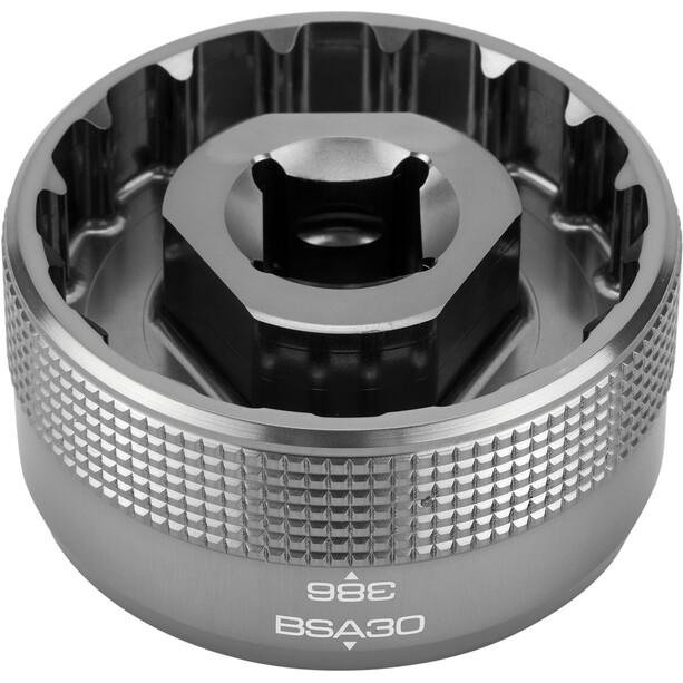 """Birzman Bottom Bracket Socket BSA30/386 1/2"""", argent"""