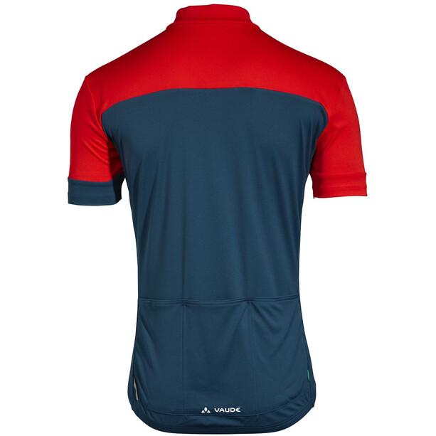 VAUDE Mossano V T skjorte Herre rød/blå