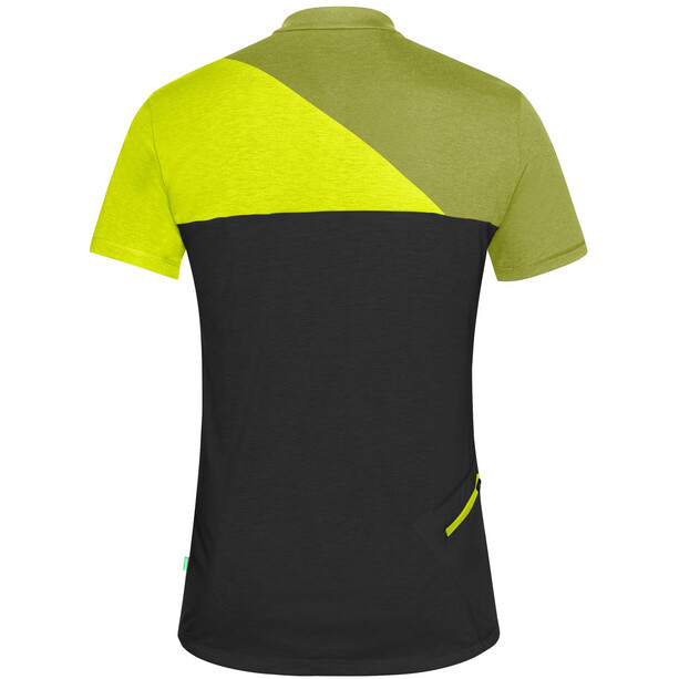 VAUDE Tremalzo IV T-shirt Herrer, sort/grøn