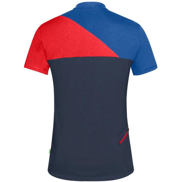VAUDE Tremalzo IV T-shirt Herrer, blå/rød