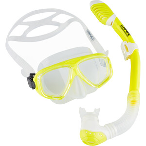 CAMPZ Tauch-Set Maske + Schnorchel Kinder gelb/transparent gelb/transparent