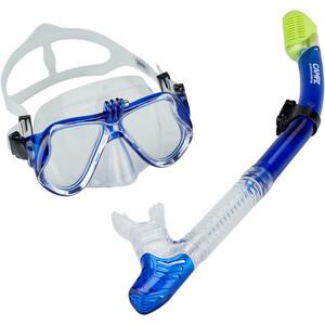 CAMPZ Tauch-Set Maske + Schnorchel blau/transparent blau/transparent