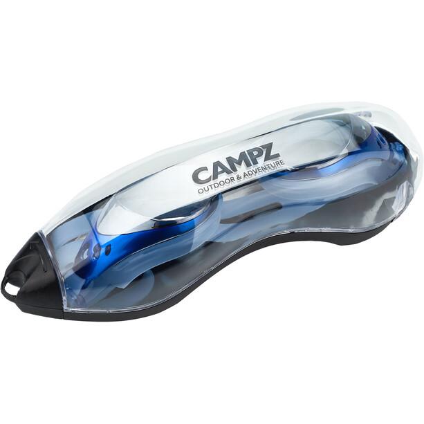 CAMPZ Svømmebriller til smalle ansigter, blå