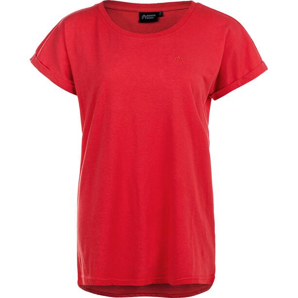North Bend Ghita Kurzarm T-Shirt Damen rot