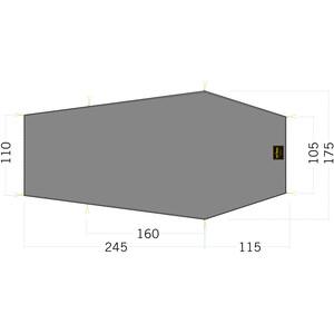 Tatonka LT Gargia 3 Bodenplane 360x105/175cm grau grau