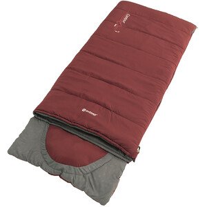 Outwell Contour Sleeping Bag Youth, rood/grijs rood/grijs