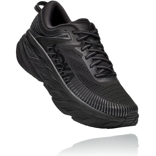 Hoka One One Bondi 7 Wide Running Shoes Women, musta