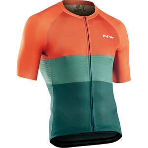 Northwave Blade Air Short Sleeve Jersey Men, vert/orange vert/orange