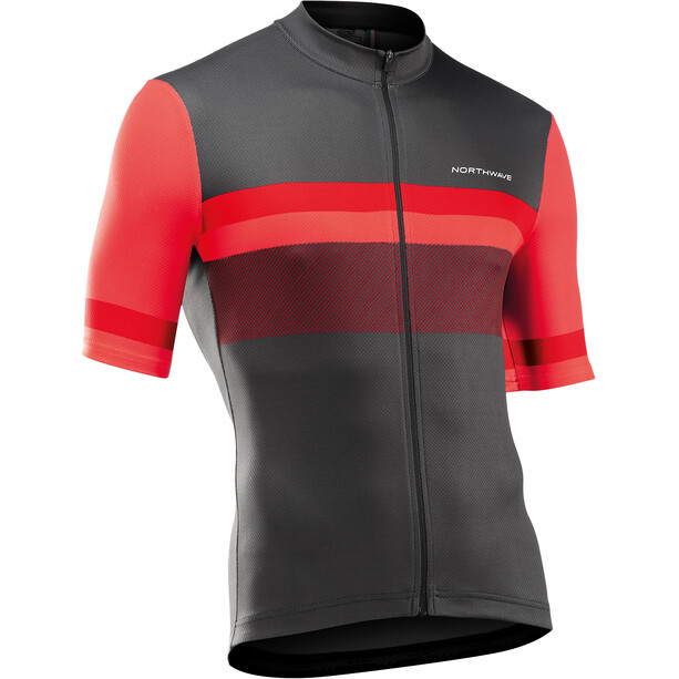 Northwave Origin Kurzarm Trikot Herren anthracite/red