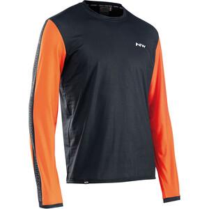 Northwave Xtrail Long Sleeve Jersey Men, noir/orange noir/orange