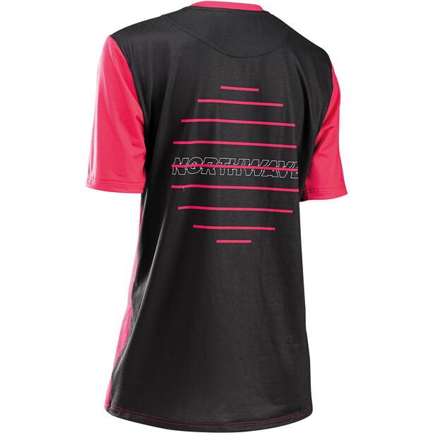Northwave Xtrail Short Sleeve Jersey Women, black/fuchsia