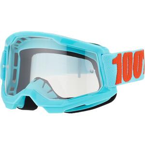 100% Strata Anti-Fog Goggles Gen2, bleu/turquoise bleu/turquoise
