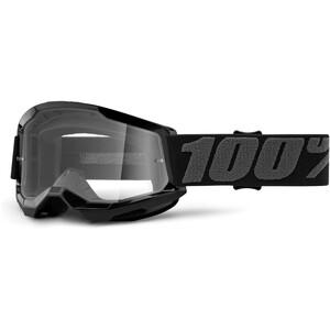 100% Strata Anti-Fog Goggles Gen2 Youth, black/clear black/clear