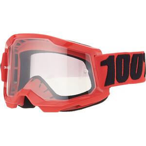 100% Strata Anti-tåke beskyttelsesbriller Gen2 Ungdom rød rød