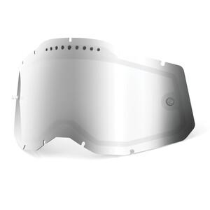 100% Vented Dual Replacement Lenses Gen2, Plateado Plateado