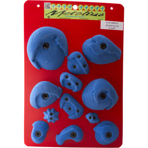 Metolius PU Bouldering Griffe Set 12 Stück blau blau