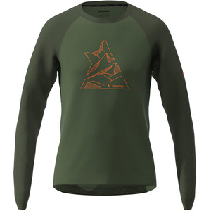 Zimtstern PureFlowz T-shirt Manches longues Homme, bronze green/forest night bronze green/forest night