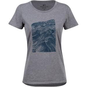 PEARL iZUMi Graphic T-shirt Femme, blue heather ash mountains blue heather ash mountains