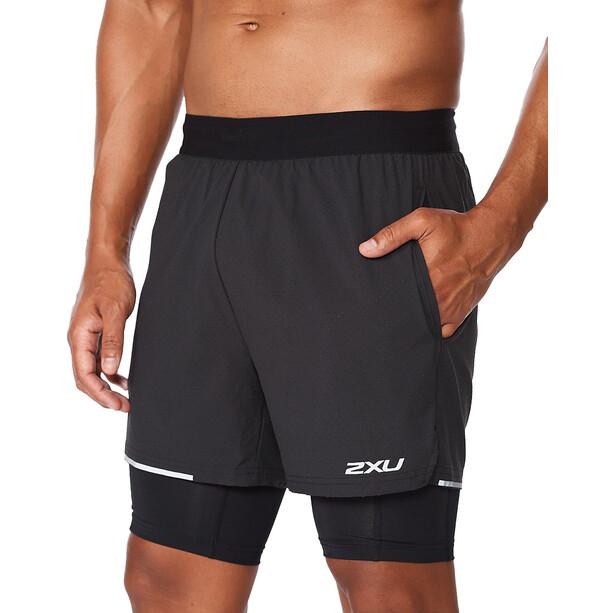 "2XU Aero 2in1 5"" Shorts Men svart"