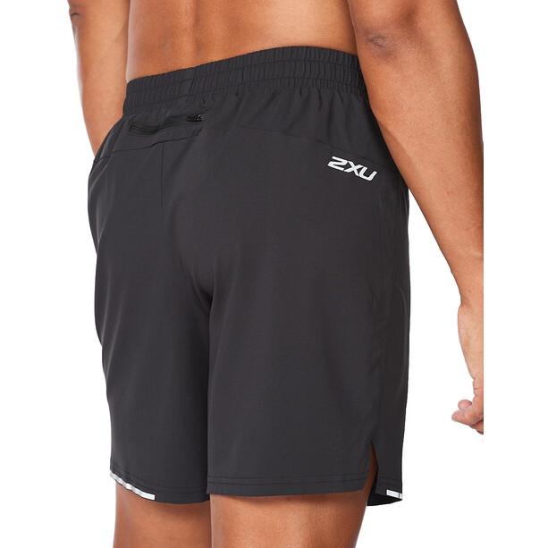 "2XU Aero 7"" Shorts Herren black/silver reflective"