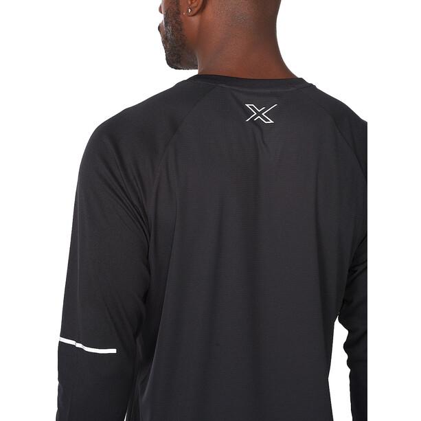 2XU Aero Langarmshirt Herren black/silver reflective