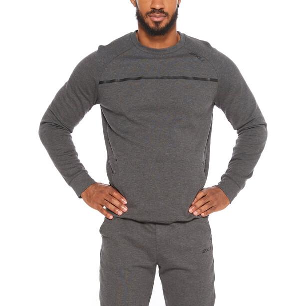 2XU Commute Crew Sweater Men, gris