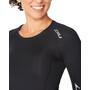 2XU Core Compression Langarmshirt Damen black/silver