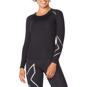 2XU Core Compression LS-skjorte Damer, sort sort