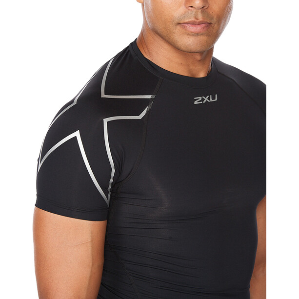 2XU Core Compression SS Shirt Men, black/silver