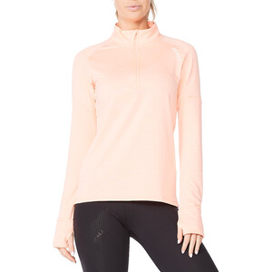 2XU Ignition 1/4 Zip Shirt Damen pop coral/white reflective pop coral/white reflective
