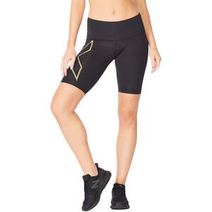 2XU Light Speed Mid-Rise Compression Shorts Damen black/gold reflective black/gold reflective