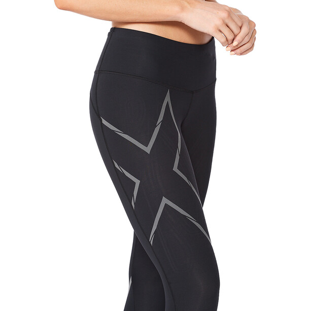 2XU Light Speed Mid-Rise Compression Tights Damen black/ black reflective