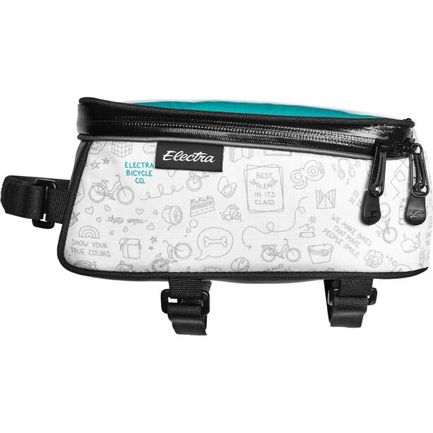 Electra Rahmentasche mit Telefon-Tasche weiß