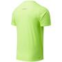 New Balance Printed Accelerate Kurzarmshirt Herren bleached lime glo