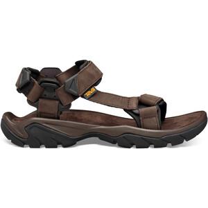 Teva Terra Fi 5 Universal Leather Sandals Men, marron marron