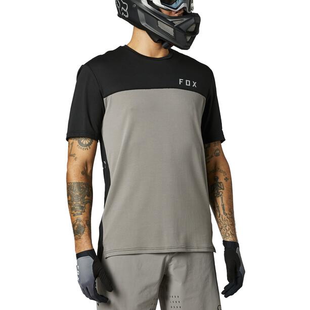Fox Flexair Delta SS Jersey Men, gris/noir