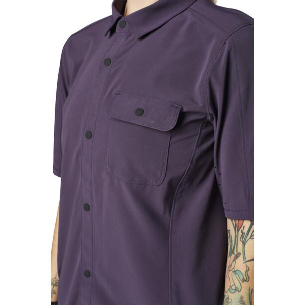 Fox Flexair Woven Kurzarm Trikot Damen dark purple