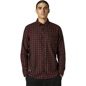 Fox Reeves Woven LS Shirt Men röd/svart röd/svart