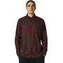 Fox Reeves Woven LS Shirt Men, black/red