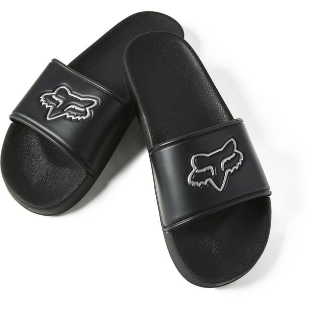 Fox Track Slides Sandals, musta