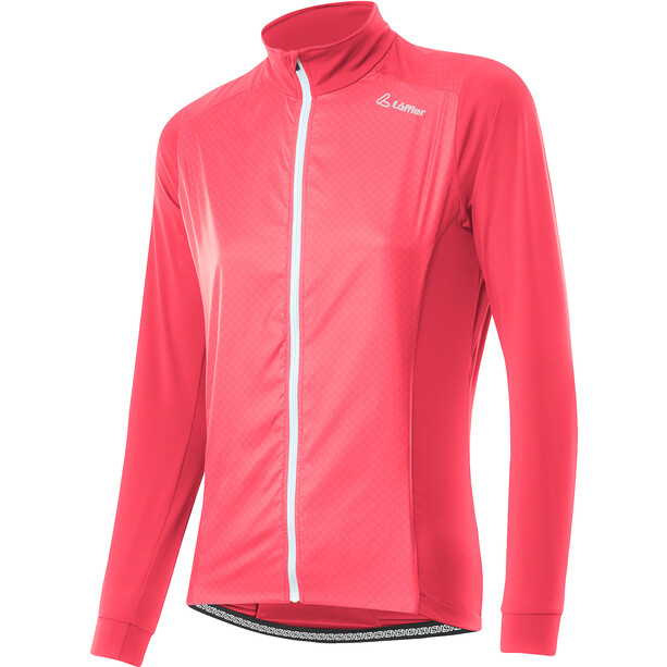 Löffler Light Hybrid Fahrrad Jacke Damen rot