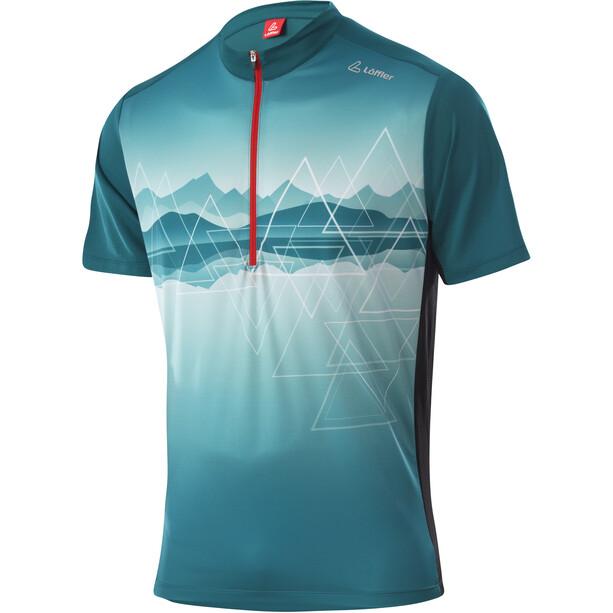 Löffler Peaks Half-Zip Bike Shirt Men, jaune