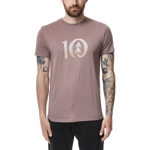 tentree Gradient Ten T-Shirt Herren twilight mauve heather twilight mauve heather