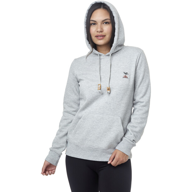 tentree Palm Sunset Embroidery Hoodie Damen hi rise grey heather