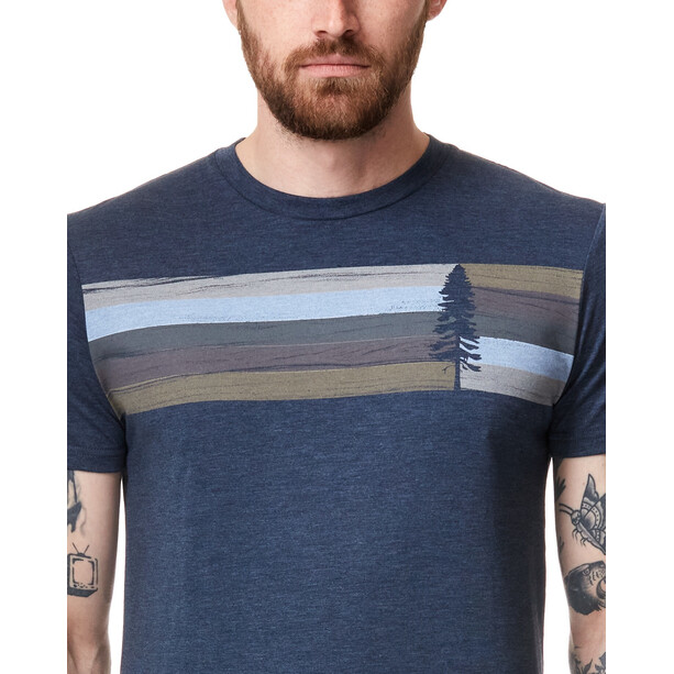 tentree Spruce Stripe T-Shirt Herren dress blue heather