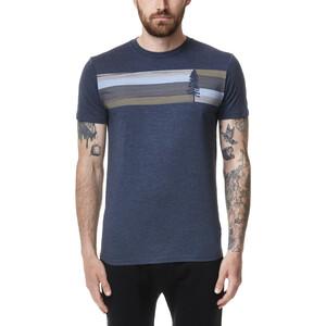 tentree Spruce Stripe T-Shirt Herren dress blue heather dress blue heather